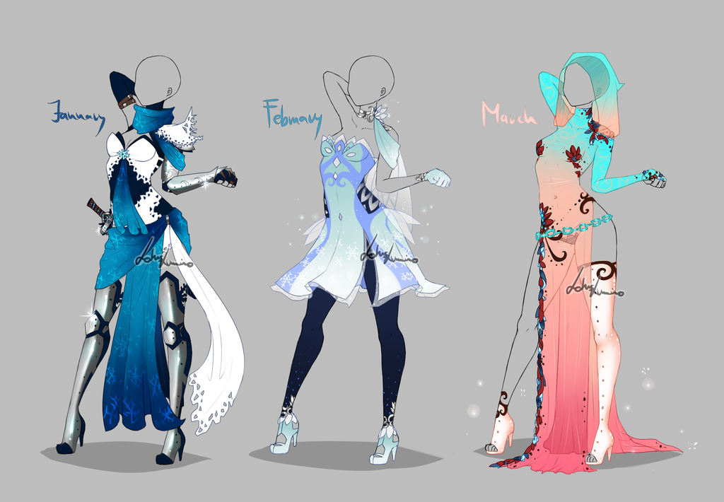 Outfit design , Months , 1 , closed by LotusLumino
