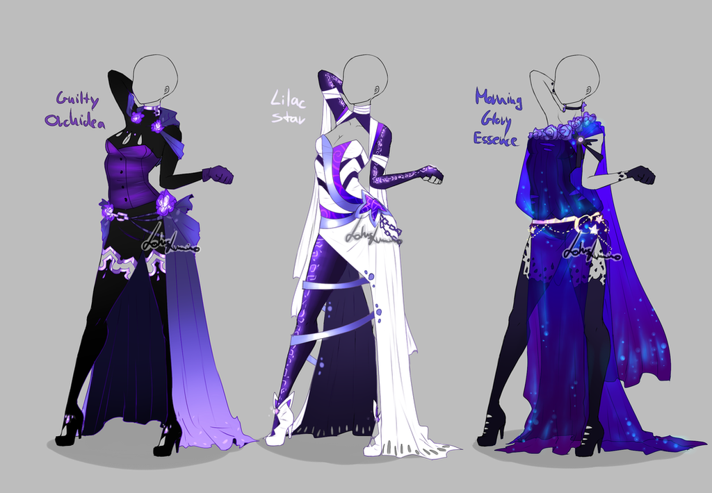 Outfit design - 282 - 284 - closed by LotusLumino on DeviantArt