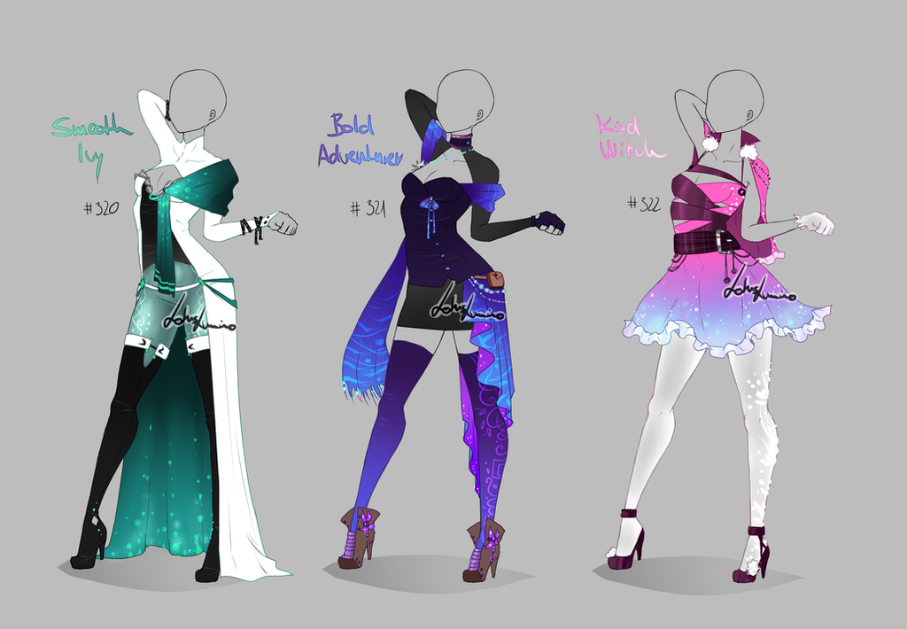 Outfit design - 320 - 322 - closed by LotusLumino on DeviantArt
