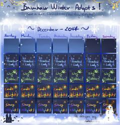 Bamharr Winter Adopts! by LotusLumino