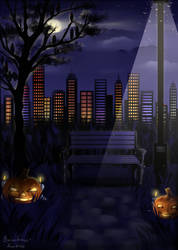 Halloween background for bamharrs by LotusLumino