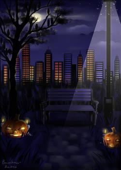 Halloween background for bamharrs