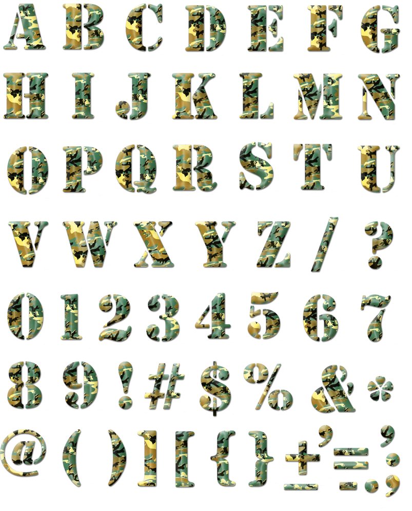 Camouflage alphabet png by sodadnima on deviantart camouflage alphabet png by sodadnima thecheapjerseys Choice Image