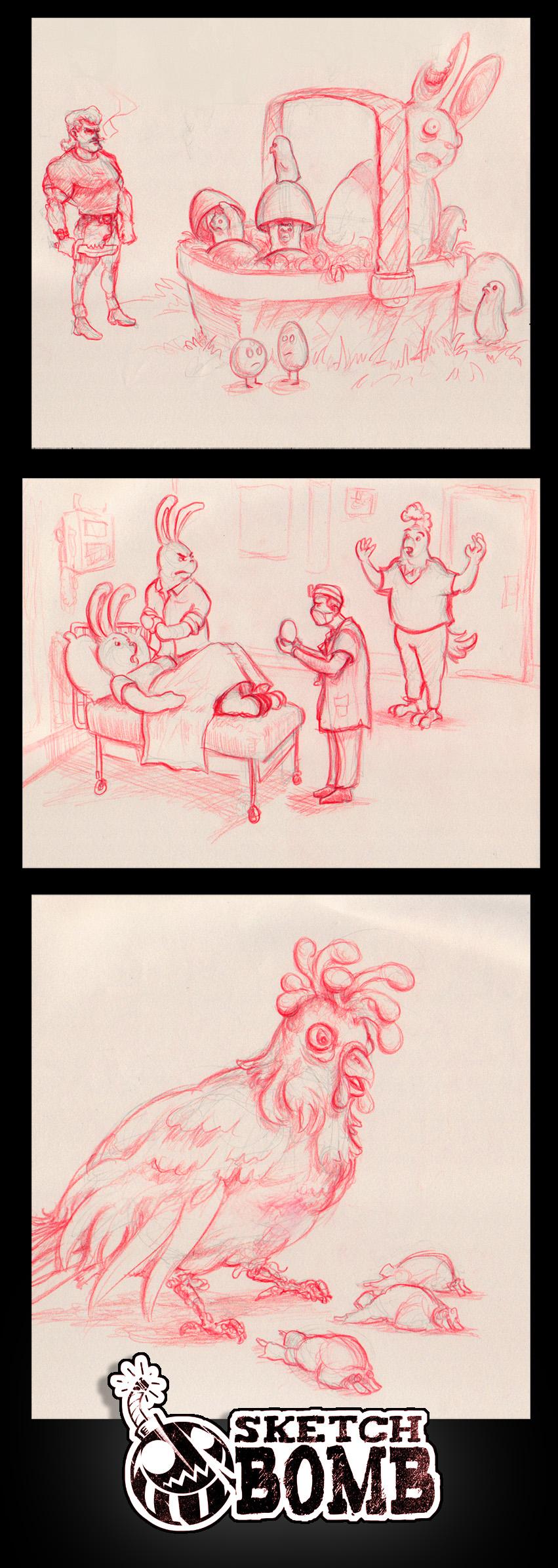 Sketch-Bomb April 23 by GoldenOne