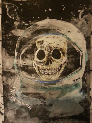 Space skull by Zomb1eChild