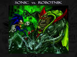 Sonic vs Robotnik Wallpaper by BiggySchmalz