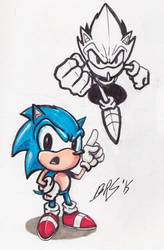Marker and Ink Classic Sonic