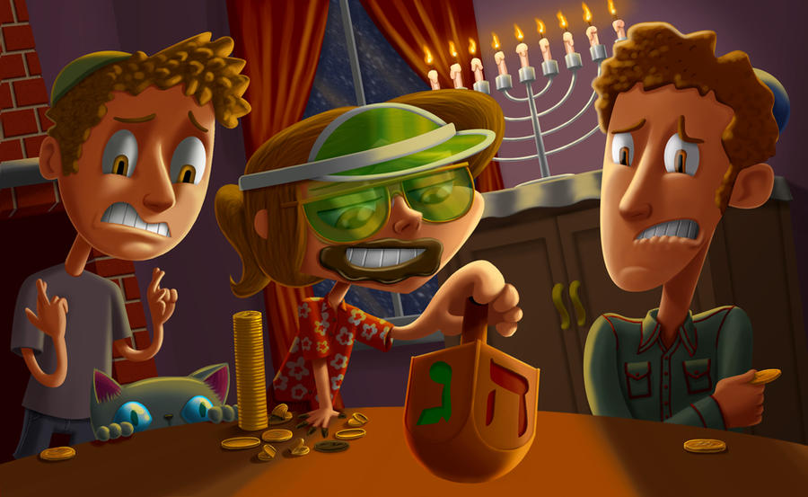 Hanukkah: The Importance of Gelt by VimislikArt