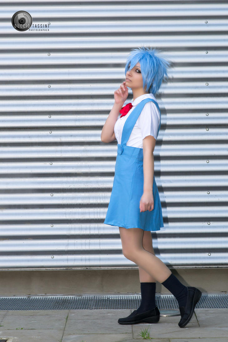Rei Ayanami School Uniform from Evangelion Cosplay by ArashiHeartgramm