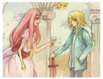 Princess Bubblegum argues with Finn.
