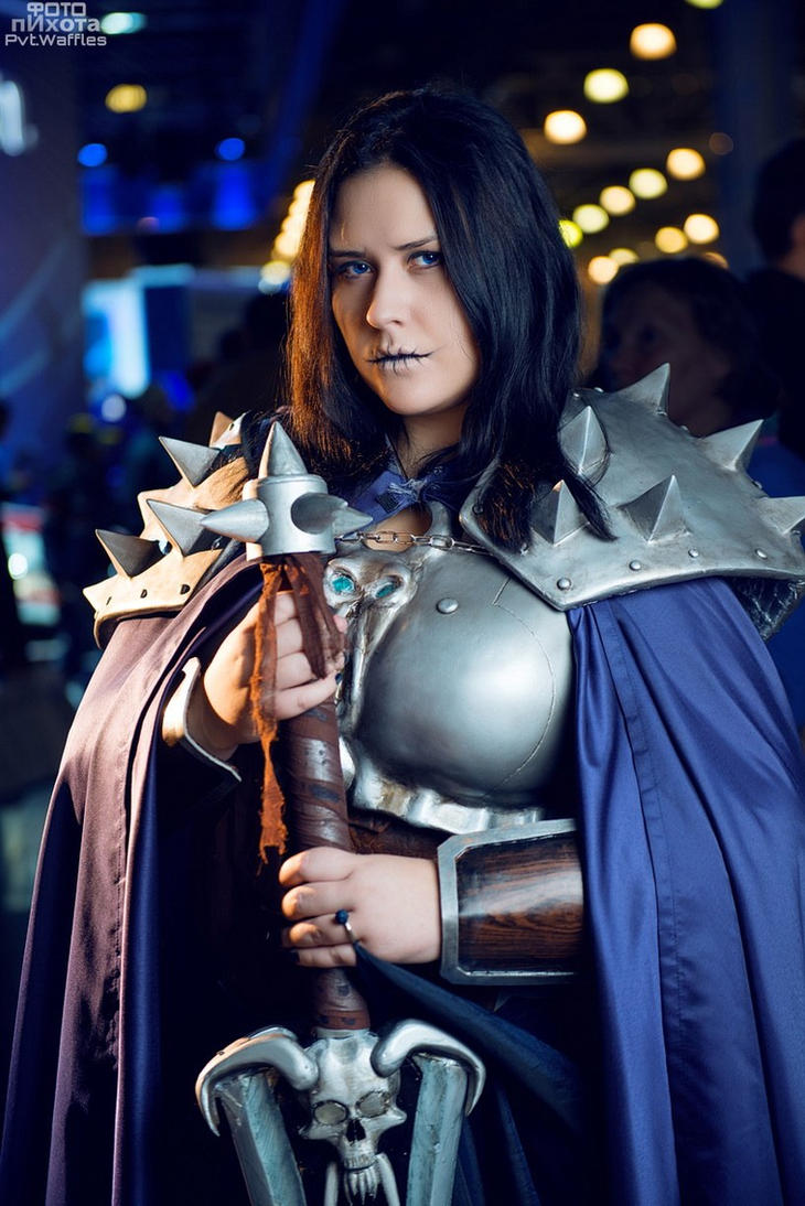 cosplay WoW:Death Knight on Igromir 2014 Moscow by Lika-tyan