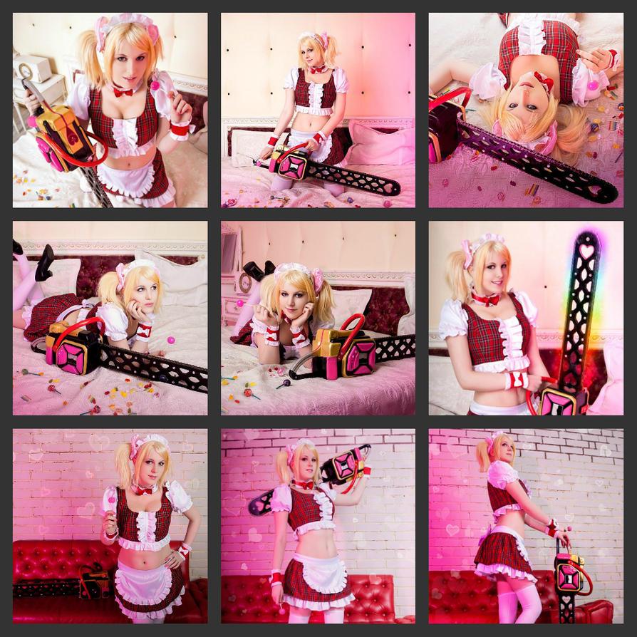 Lollipop Chainsaw:Juliet Starling maid photoshoot by Lika-tyan