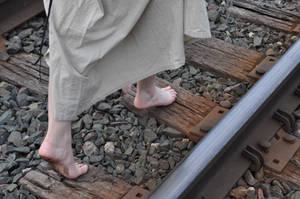 Steampunk Random Stock: Barefoot and Tracks VI by kndrwllmsn