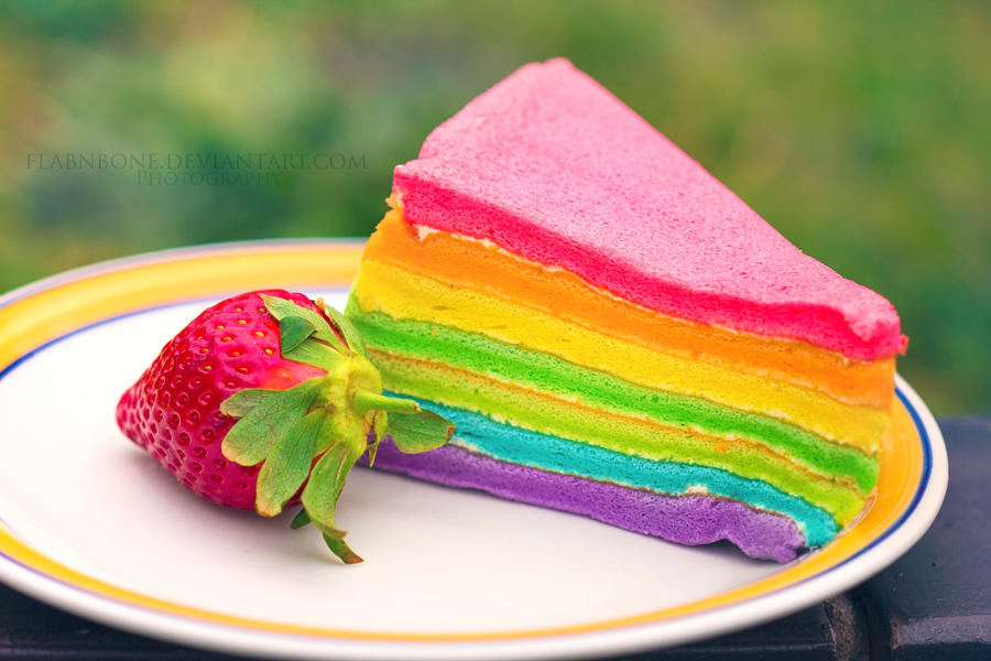Rainbow Cake by FlabnBone