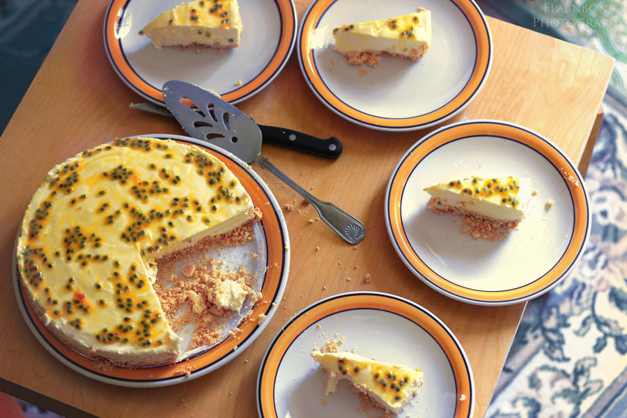 Lemon Passionfruit Cheesecake by FlabnBone