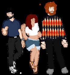 We Bad Three by ranuncudahlia