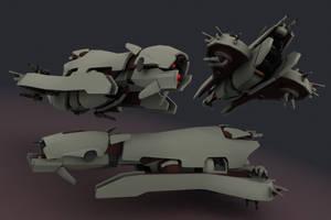 AFF,collab- Anubis Battleship by failurecrusade