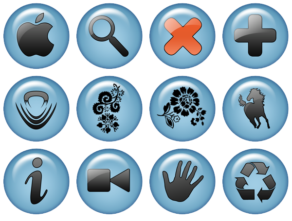 Blue Icon Pack by JohnKain