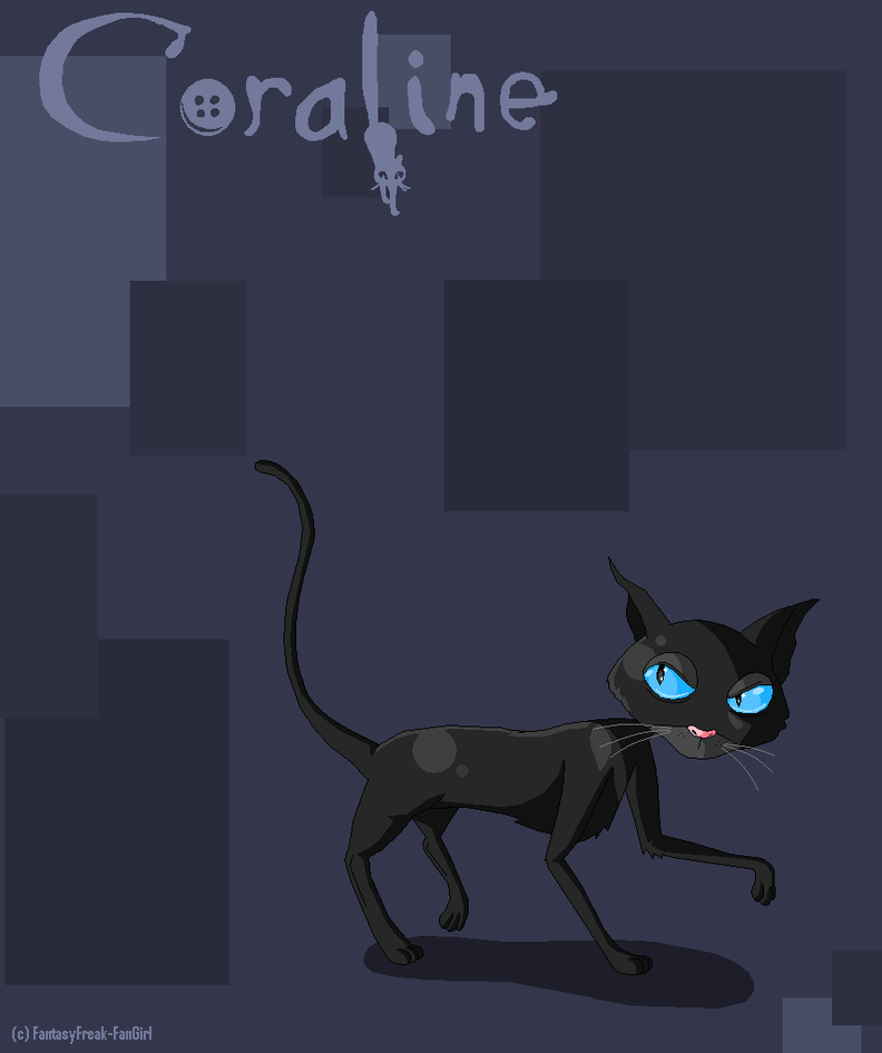 Coraline The Cat By Fantasyfreak Fangirl On Deviantart