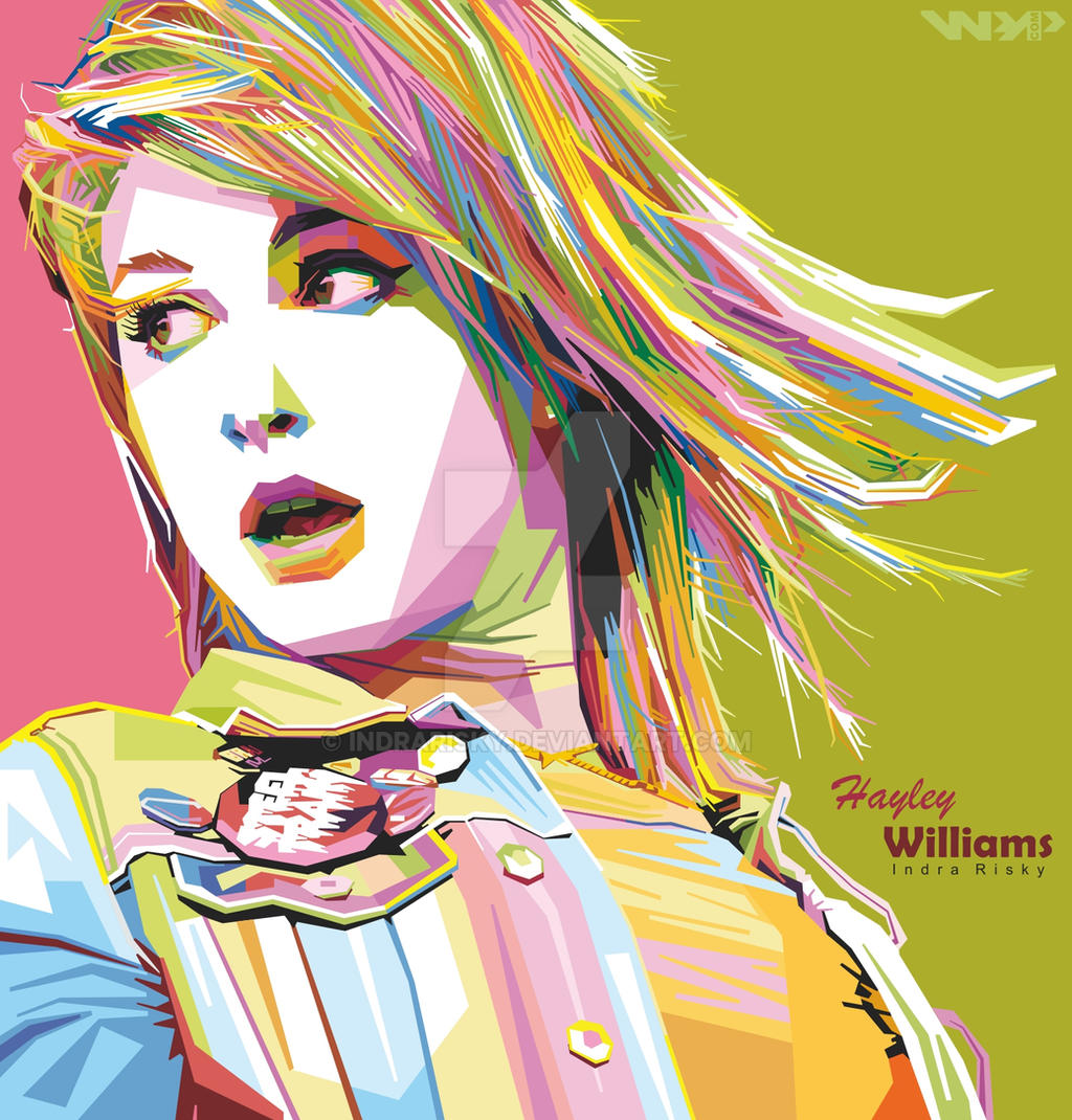 Professional Screeding Pop And Painting Designs Works: Hayley Williams In WPAP [Wedha's Pop Art Potrait] By