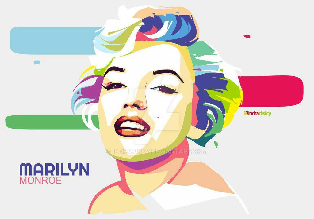 Marilyn Monroe in PopArt Portrait by IndraRisky