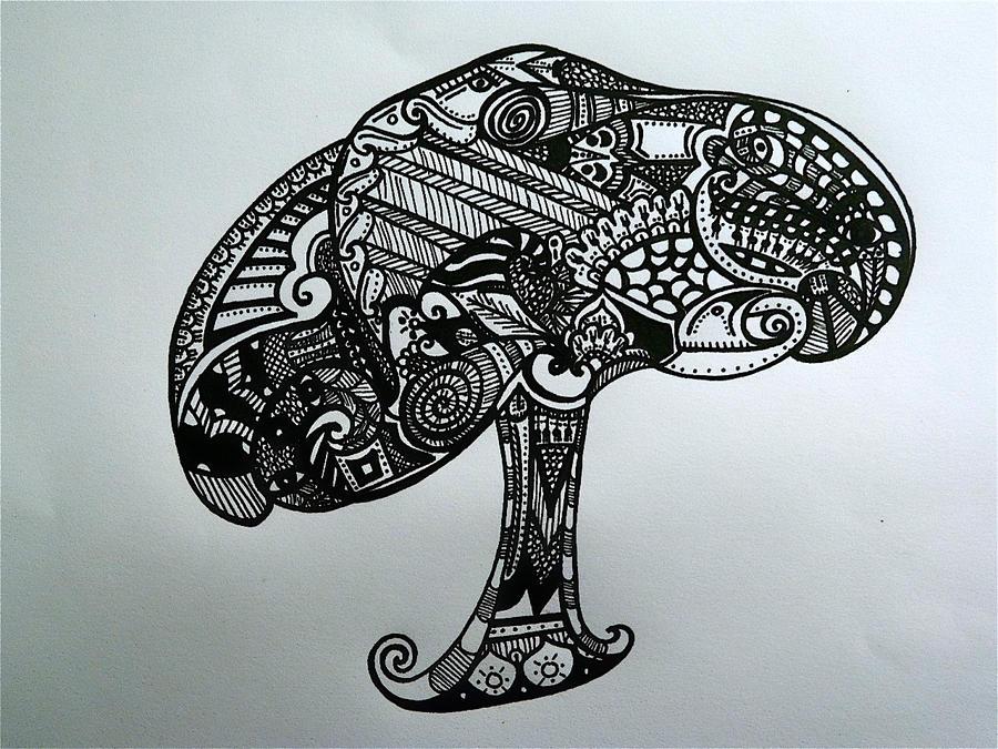 Magic Mushroom Drawings Magic Mushroom...900