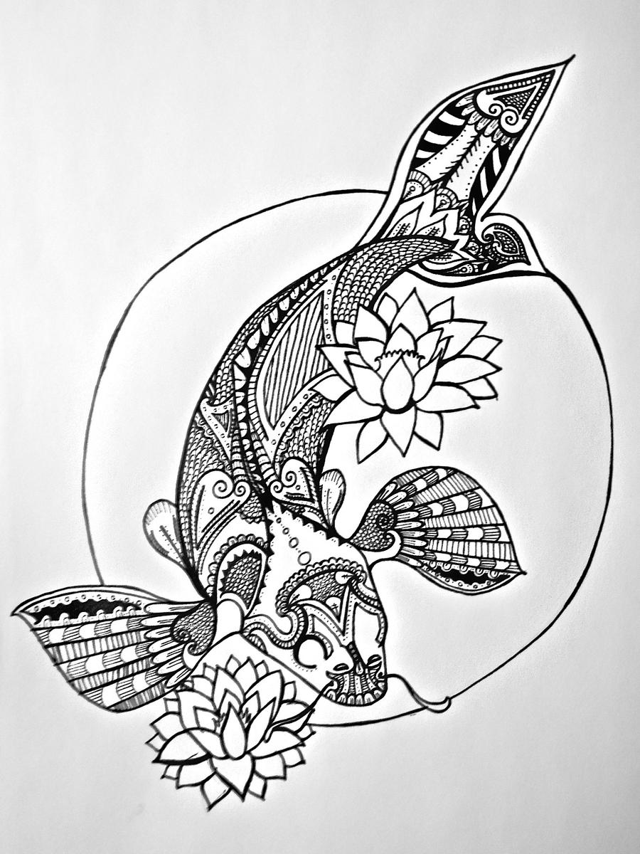 Japanese Tattoo Line Drawing : Japanese sunrise line art by rosered on deviantart