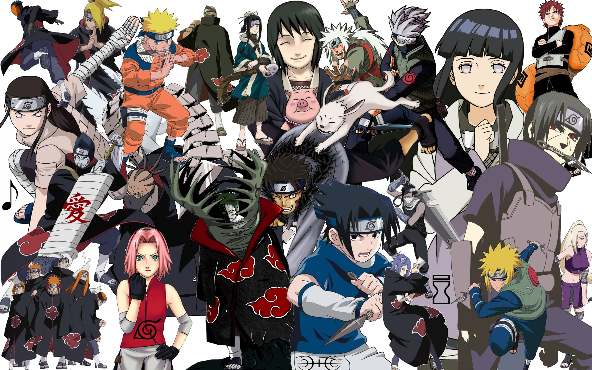 Anime Characters Naruto : Naruto collage wallpaper by superzproductions on deviantart