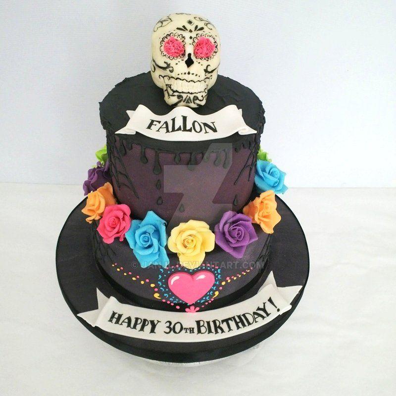 Day Of The Dead Cake By Janjl On Deviantart