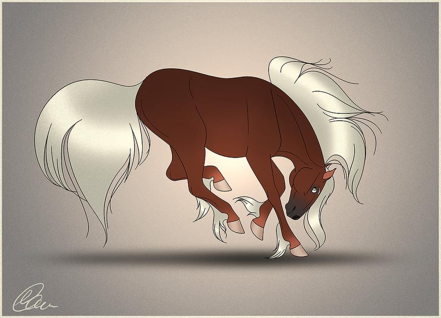 bucking horse by saregona