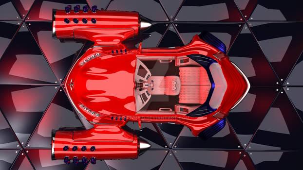 GALAXIO car futuristic- top view