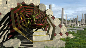 Ancient temple of the spider god