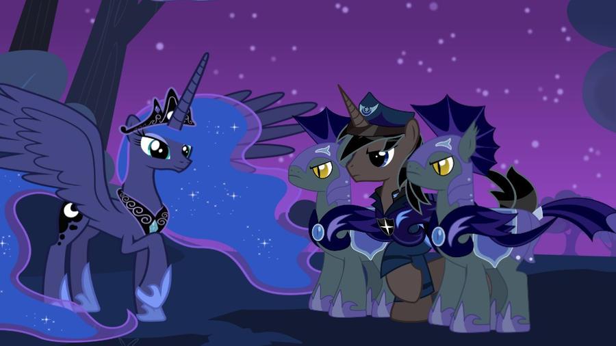 Mlp Pregnant Luna Knight by mlp-black-knight