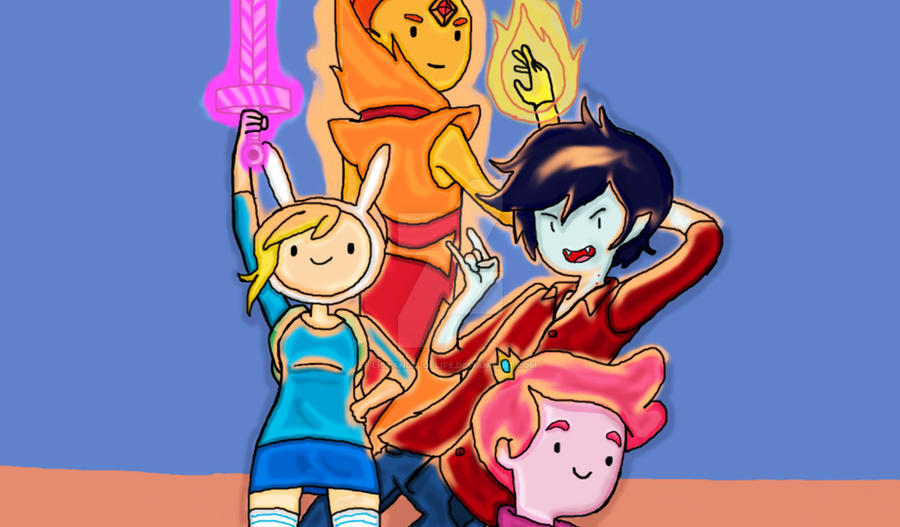 Adventure Time Fionna and Friends by lisaangeloflife