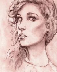 Charcoal Portrait, Rockie by KNKL