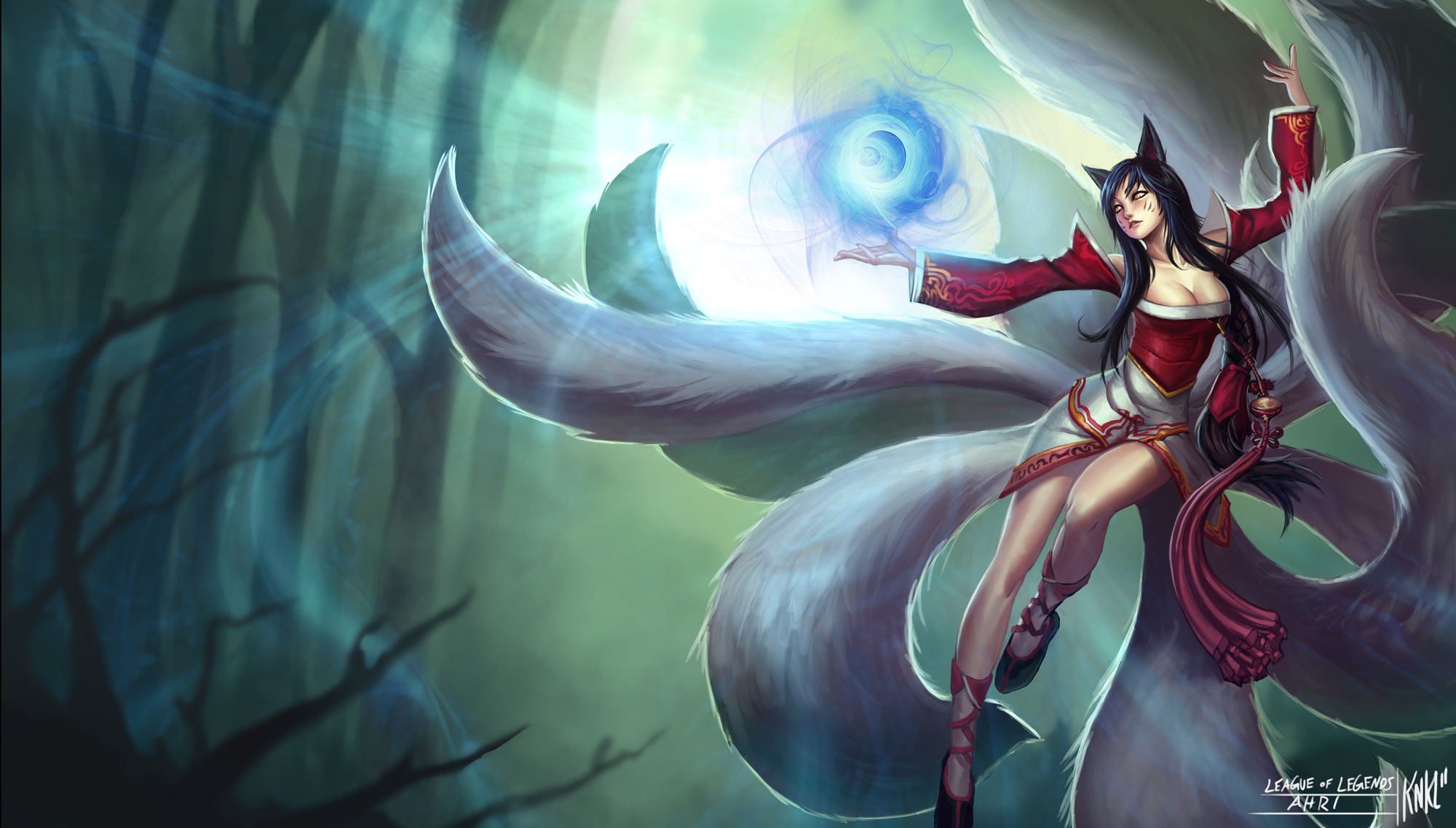 LoL - Ahri by Knockwurst