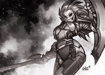 Undead Warrior - World of Warcraft by KNKL