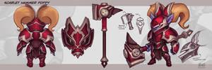 Poppy VU - Scarlet Hammer by KNKL