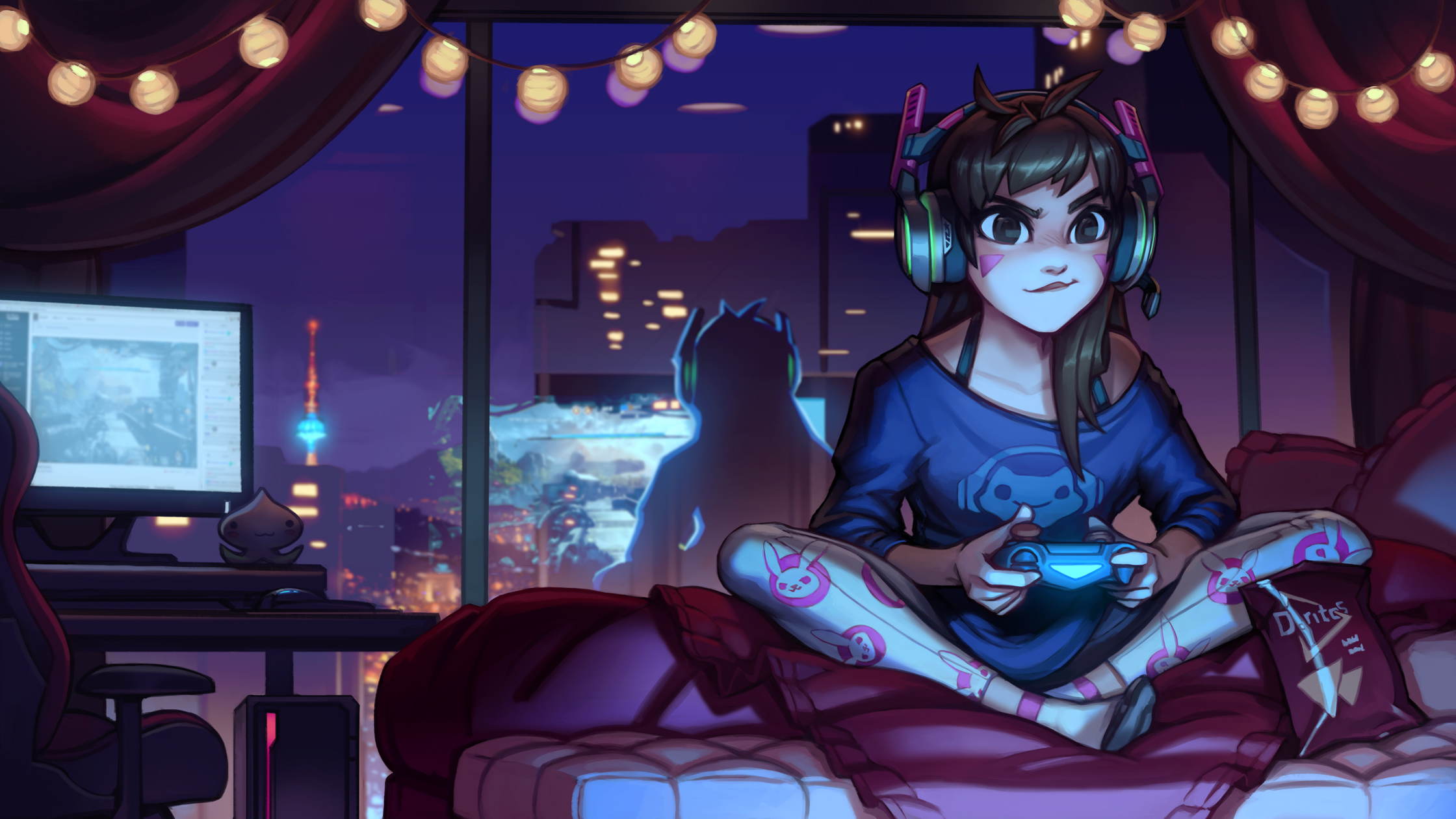 Casual D va - Youtube Process! by KNKL on DeviantArt