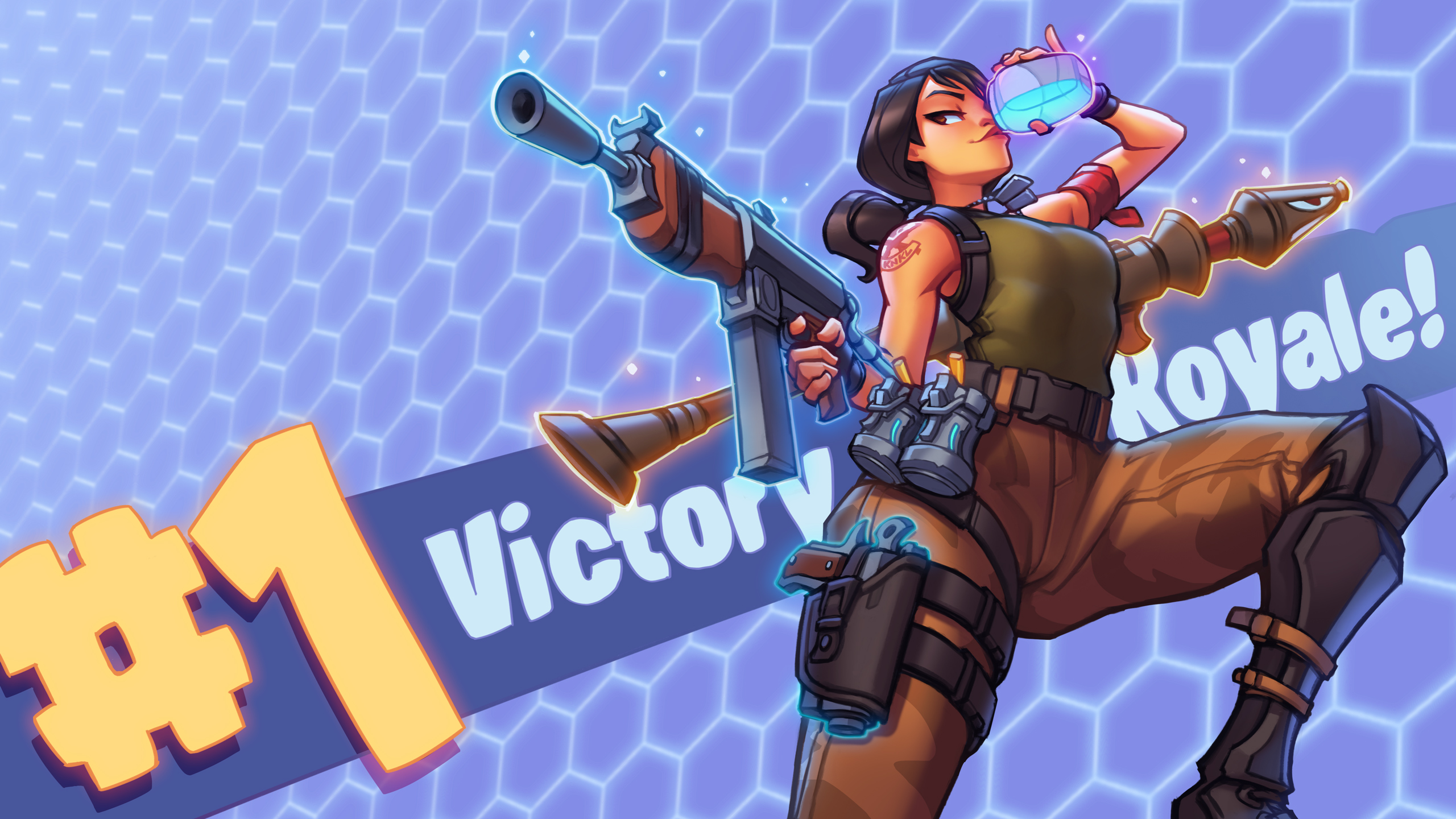 Fortnite - 2018 VICTORY ROYALE! -Youtube!! by KNKL on DeviantArt