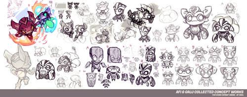 Afi Galu  - Icons Combat Arena - Concept Art