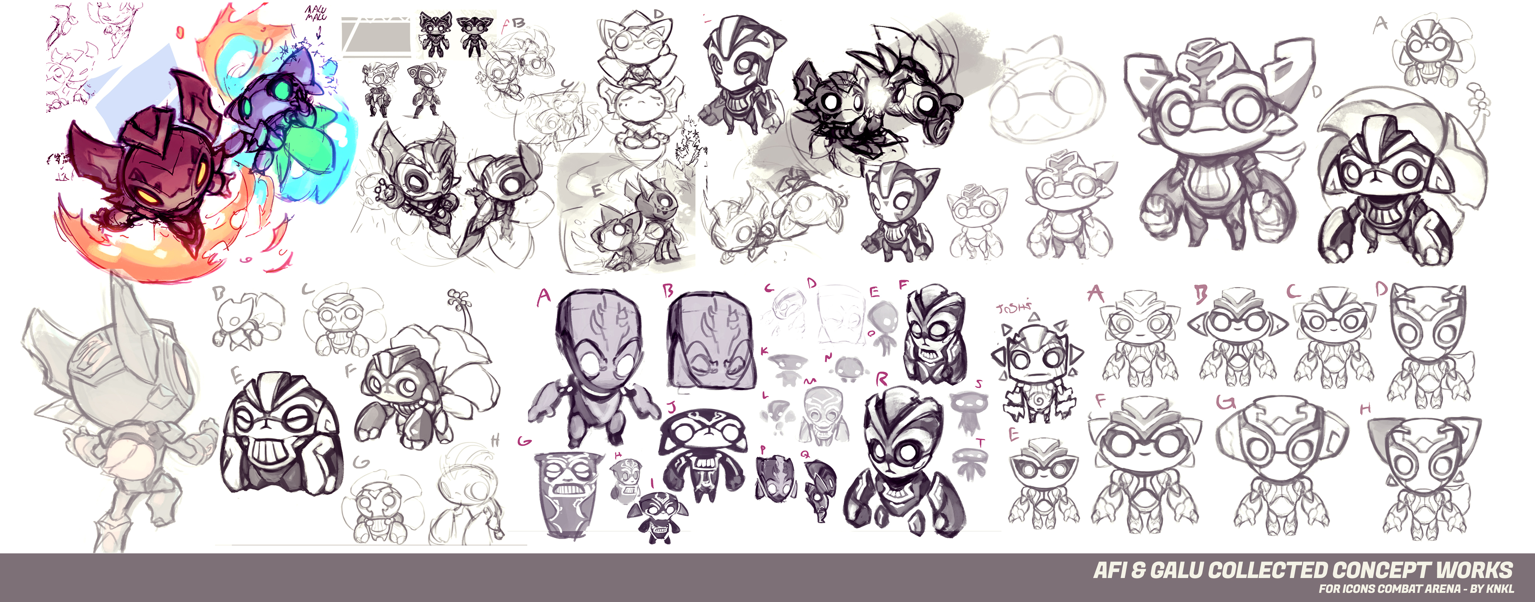 Afi Galu  - Icons Combat Arena - Concept Art by KNKL