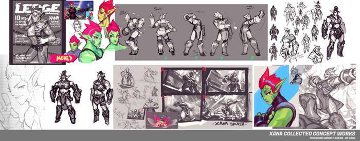 Xana - Icons Combat Arena - Concept Art