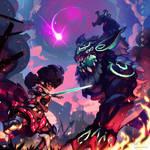 Moka and the colossal Dreg - Maid of Metal!