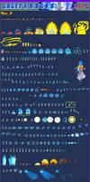 Gogeta ssj blue SWL-PLUS, Sprite sheet
