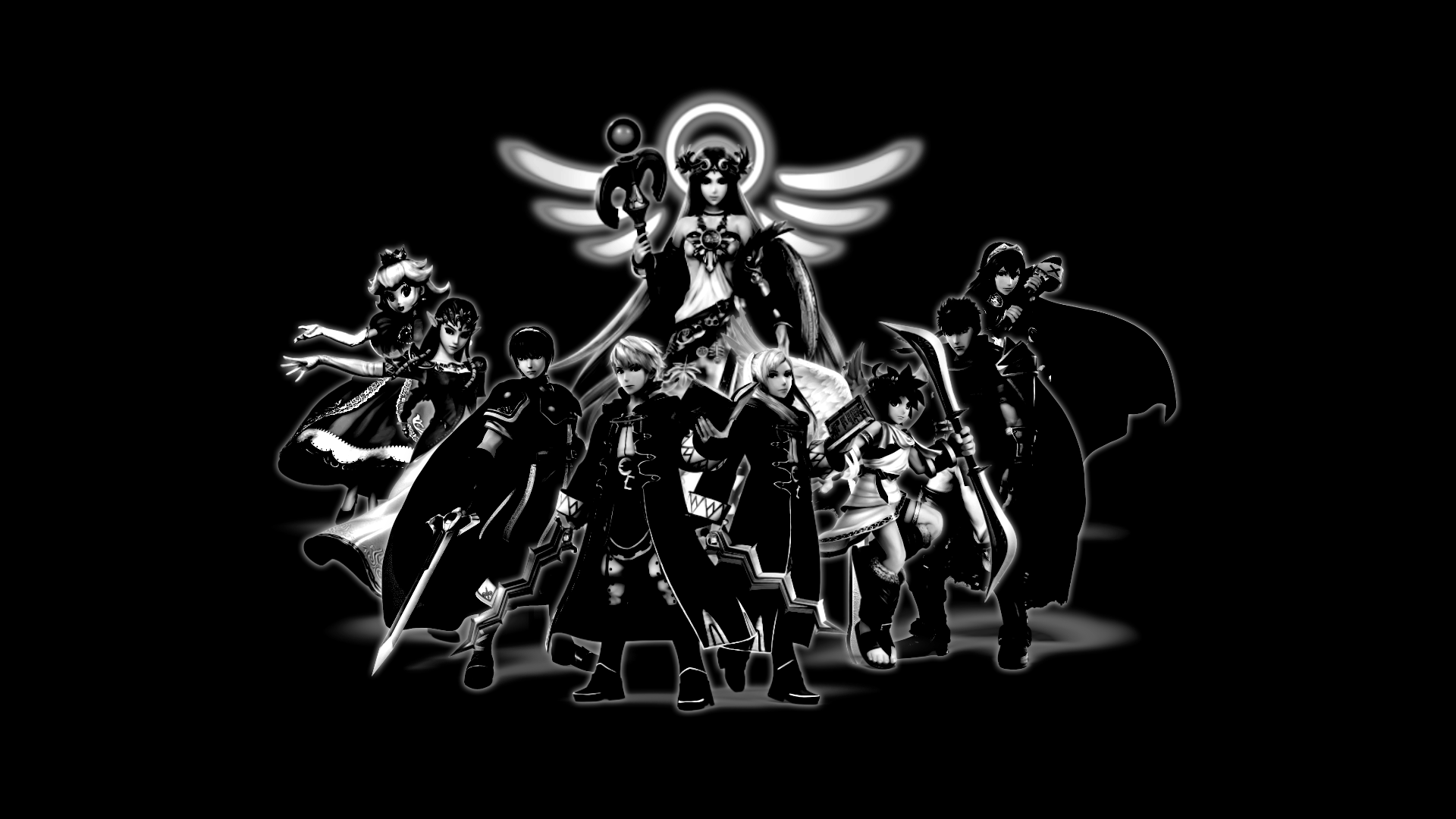 4 Background 1920x1080 BW By CookedEmil Super Smash Bros