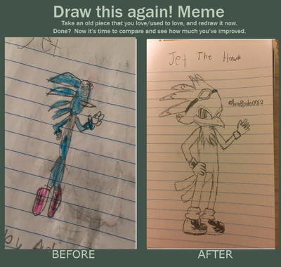 Draw This Again! (2012 vs 2016) by MisterytheWere-Hog