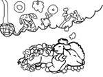 Dreaming of a fluffy new year by BlueRedDog