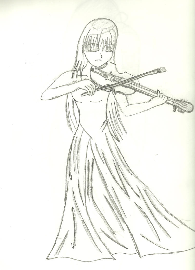 Anime Girl playing the Violin by Espliego on DeviantArt