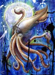 Arttrade: Full Moon Squid by Noss91